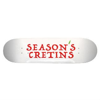 cretins do ` s da estação shape de skate 18,1cm