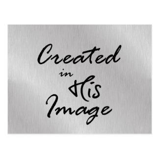 Criado em suas citações cristãs da imagem cartão postal