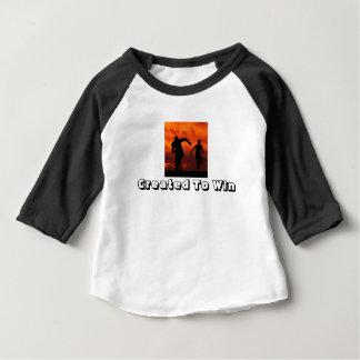 CRIADO PARA GANHAR a camisa do bebê
