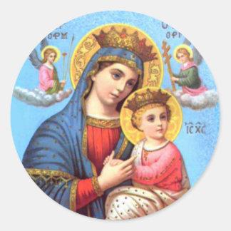 Criança abençoada Jesus da Virgem Maria e da Adesivo