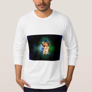 Criança abençoada Jesus da Virgem Maria e da Camiseta