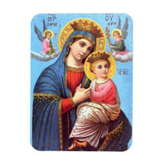 Criança abençoada Jesus da Virgem Maria e da Ímã