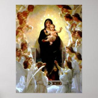 Criança abençoada Jesus da Virgem Maria e da Poster