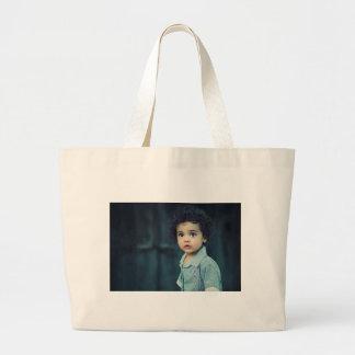 Criança bonito bolsa tote grande