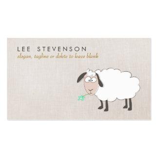 Criança bonito do desenho dos carneiros cartão de visita