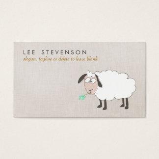 Criança bonito do desenho dos carneiros cartão de visitas