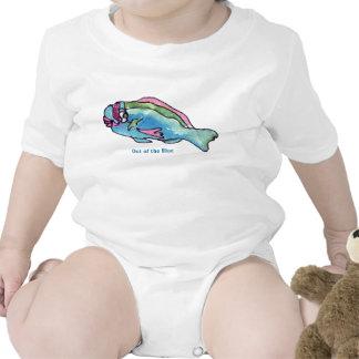 Criança bonito dos peixes dos desenhos animados do macacãozinho para bebês
