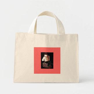 Criança com acordeão sacola tote mini