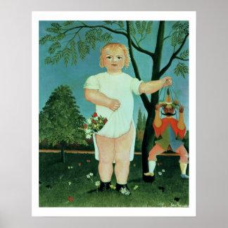 Criança com um fantoche, c.1903 (óleo em canvas) impressão
