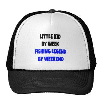 Criança da legenda da pesca boné