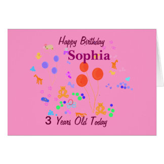 Criança de 3 anos do feliz aniversario cartoes
