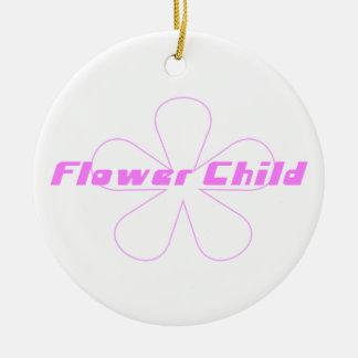Criança de flor cor-de-rosa enfeites de natal