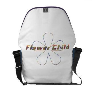 Criança de flor de Tiedye Bolsa Mensageiro