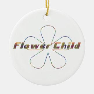 Criança de flor de Tiedye Ornamentos