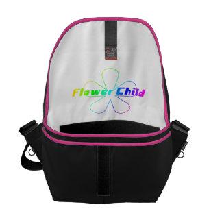 Criança de flor do arco-íris bolsa mensageiro