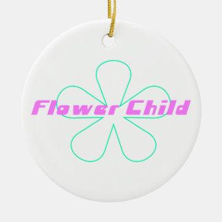 Criança de flor retro ornamento para arvore de natal