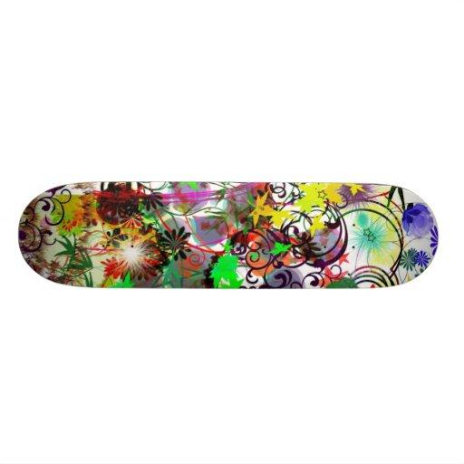 Criança de flor retro skate personalizado