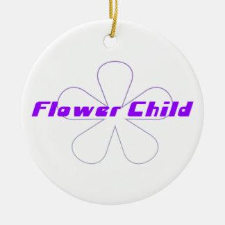 Criança de flor roxa ornamentos
