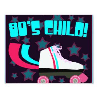 criança do anos 80 convites personalizados