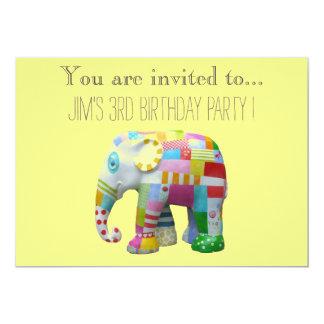 Criança do brinquedo do elefante ou festa de convite 12.7 x 17.78cm