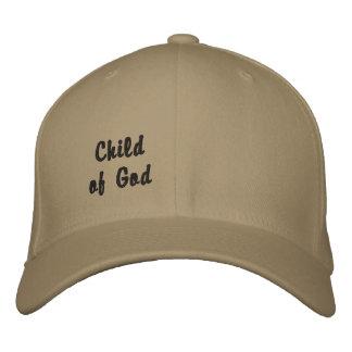 Criança do deus boné bordado