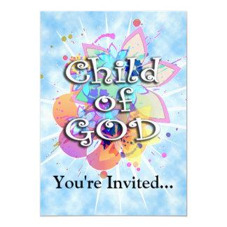 Criança do deus, Pastel Convite 12.7 X 17.78cm