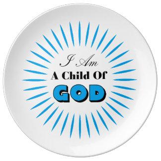 Criança do deus pratos de porcelana