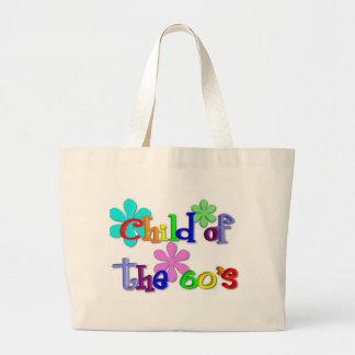 Criança do saco dos anos 60 bolsas de lona
