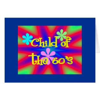 Criança dos anos 60 (cartão de aniversário) cartão comemorativo