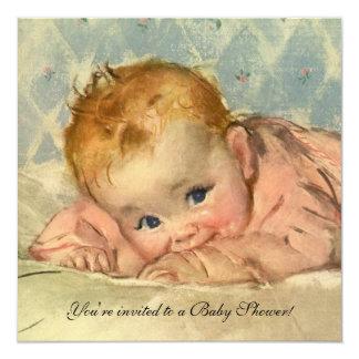 Criança em uma cobertura, convite do vintage do