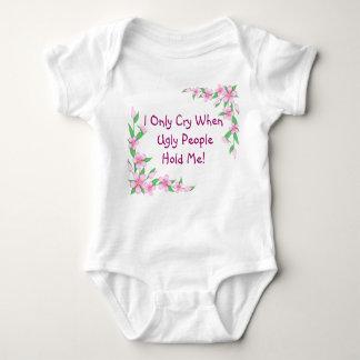 Criança engraçada Onsie/T das flores da camisa