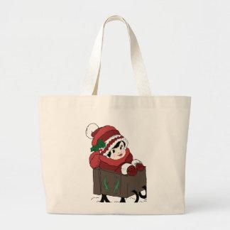 Criança no trenó bolsas para compras