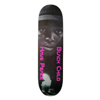Criança preta skates personalizados