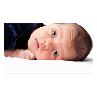 Criança recém-nascida pequena bonito modelo de cartões de visita