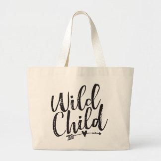 Criança selvagem bolsa tote grande