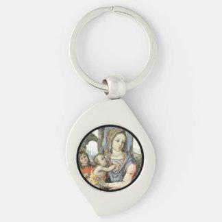 Criança St Joseph do cristo de Madonna e anjo Chaveiro