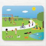 Crianças bonitos & animais de estimação dos desenh mousepad