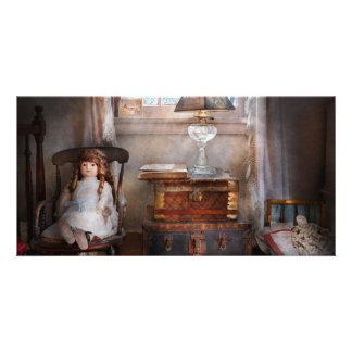 Crianças - brinquedo - uma sala das meninas cartões com fotos