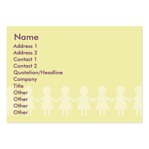 Crianças - carnudos cartões de visitas