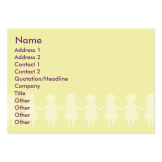Crianças - carnudos cartão de visita grande