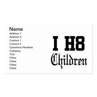 crianças cartão de visita