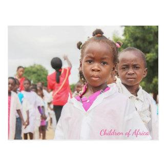 Crianças de África Cartão Postal