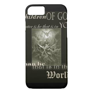 Crianças de capas de iphone do Overprint do deus