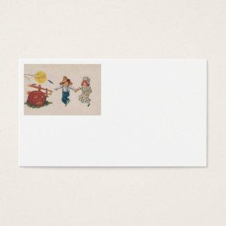 Crianças de Lua cheia do bastão da abóbora da Cartão De Visitas