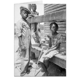 Crianças do delta de Mississippi Cartão Comemorativo