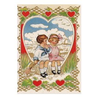 Crianças do dia dos namorados do Victorian do Cartão De Visita Grande