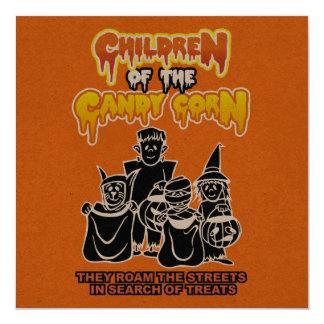 Crianças do milho de doces: Partido do Dia das Convite Quadrado 13.35 X 13.35cm