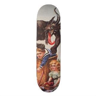 Crianças do rapto de Krampus Shape De Skate 21,6cm