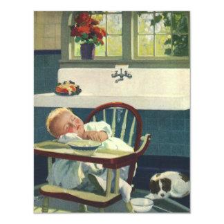 Crianças do vintage, convite adormecido do