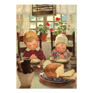 Crianças do vintage festa de aniversário dos gême